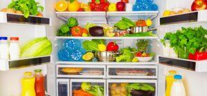 fridge full of food